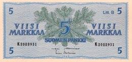 Finland 5 Markkaa, P-106A (1963) - UNC - Litt B - Finnland