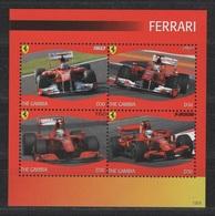 Gambia 2012 Mi 6597-6600vb Ferrari - Racing Cars / Ferrari - Rennwagen **/ MNH - Voitures