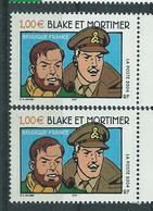 [28] Variété : N° 3670 Blake Et Mortimer Habits Brun-olive Au Lieu De Brun + Normal ** - Variétés Et Curiosités