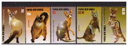 PAPUA NEW GUINEA  2005 Cats 5 V Set  MNH - Papua-Neuguinea