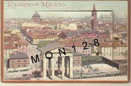 ITALIE - MILANO - CARTE A SYSTEME COMPLET - 12 VUES (carton Très Epais) - Milano