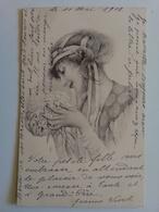 Superbe CPA Femme Art Nouveau à L' Hortensia - Illustrateur M M Vienne - Précurseur - élégante Mode - Style Kirchner - Vienne