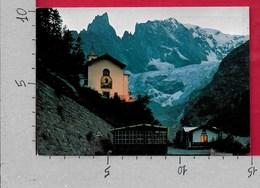 CARTOLINA VG ITALIA - COURMAYEUR (AO) - Notre Dame De La Guerison - Notturno - 10 X 15 - ANN. 1976 - Italia