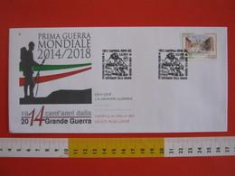 A.07 ITALIA ANNULLO - 2014 CAMPIGLIA CERVO BIELLA 100 ANNI GRANDE GUERRA WAR ARDITO FANTE FANTERIA - Prima Guerra Mondiale