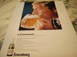 ANCIENNE PUBLICITE LA BIERE 1664  KRONENBOURG 1966 - Alcools