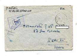 Lettre Cachet Poste Aux Armees Censuré Controlé Us Army - Postmark Collection (Covers)