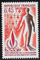 N° 1781   FRANCE  -  NEUF  -  25E ANNIV. DECLARATION DES DROITS DE L'HOMME     -  1973 - France
