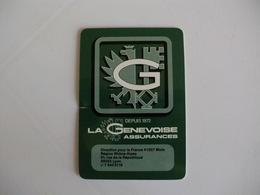 La Genevoise Assurances Insurance Companhia De Seguros France Plastic Pocket Calendar 1986 - Calendriers