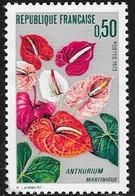 N° 1738   FRANCE  -  NEUF  -  ANTHURIUM MARTINIQUE  -  1973 - France