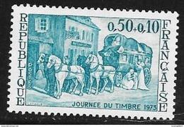 N° 1749   FRANCE  -  NEUF  -  JOURNEE DU TIMBRE RELAIS DE POSTE -  1973 - France