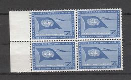 NATIONS-UNIES   NEW YORK   1960   N° 7 BLOC DE 4     NEUF**    CATALOGUE YVERT&TELLIER - Ungebraucht
