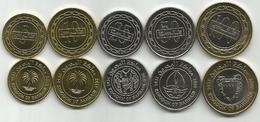 Bahrain 2010/12. UNC Set Of 5 Coins - Bahrain