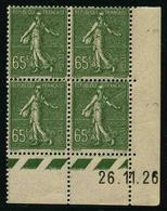 FRANCE - YT 234 ** - BLOC DE 4 TIMBRES NEUFS ** AVEC COIN DATE - Ecken (Datum)