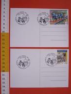 A.07 ITALIA ANNULLO - 2014 OROPA BIELLA SANTUARIO ABBRACCIA I CICLISTI GIRO DI ITALIA 2 CARD IN FOLDER ASCOM TAPPA AGLIE - Ciclismo