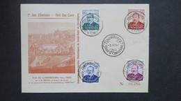 Luxembourg Lettre FDC Série Caritas Le  3 Decembre 1952  Jour Emission - FDC