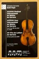 2019 CALENDARIO FESTIVAL INTERNACIONAL DE MÚSICA DE CERVERA. - Calendriers
