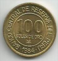Peru 100 Soles De Oro 1984. High Grade - Pérou