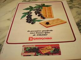 ANCIENNE PUBLICITE GAUFRETTE DE CASSIS  GRINGOIRE  1966 - Affiches
