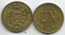 Peru 1 Sol De Oro 1976. High Grade - Pérou