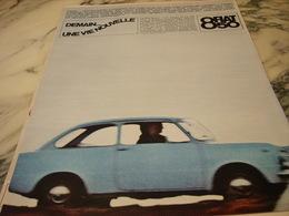 ANCIENNE PUBLICITE VOITURE  FIAT 850 DE 1966 - Publicités
