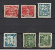 CUBA.  YT  PA  N° 24/29   Neuf *  1937 - Poste Aérienne