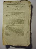 BULLETIN DES LOIS De 1818 - CONVENTION CONCLUE ENTRE LA FRANCE ET LA SICILE PAR RICHELIEU & CASTELCICALA - ITALIE Italia - Decrees & Laws
