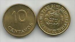 Peru 10 Centavos 1975. High Grade - Perú