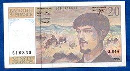 Debussy  -  20 Francs 1993 -  état  TTB+ - 1962-1997 ''Francs''
