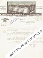 Lettre Illustrée 1942 - HERSTAL - MAISON SAROLEA - Fabricant De : Cycles - Motocyclettes - Moteurs - Triporteurs - Motos