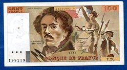 Delacroix -  100 Francs 1980 -  état  TTB - 1962-1997 ''Francs''