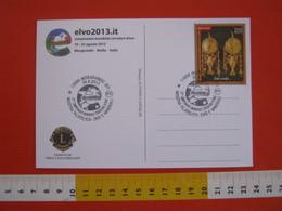 A.07 ITALIA ANNULLO - 2013 MONGRANDO BIELLA MOSTRA ORO E MINERALI CAMPIONATO MONDIALE CERCATORI ORO GOLD ELVO FIUME - Minerali