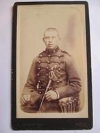 Photographie Ancienne CDV - Militaire Du 7 ème  Régiment ( Dragon ?) - Photo Martin, DOLE   T BE - Guerra, Militari