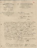 SAINT DIE F POIRSON AMEUBLEMENTS TAPISSIER DECORATEUR LAINE CRIN PLUMES DUVET MANUFACTURE DE PIANOS BILLARDS  ANNEE 1904 - France