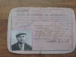 Permis De Conduire Les Automobiles 14 Septembre 1928 Extention 1932 - Documents Historiques