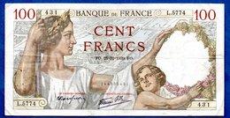 Sully -  100 Francs      28/12/1939 -    état  TB+ - 1871-1952 Anciens Francs Circulés Au XXème