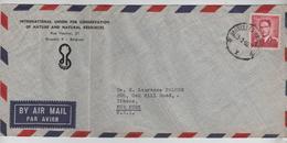 PR6312/ TP 1072 Baudouin Lunettes S/L.Avion C.BXL 1960 V.USA - Postmark Collection