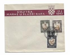 1943 FDC Croatia, Mi 94-96 - Kroatien