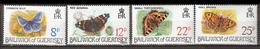 Guernsey 1981 Butterrflies. Mi 218-221, MNH(**) - Guernesey