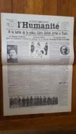 L'HUMANITE FAC SIMILE DE LA UNE DU 29/12/1920  N°6124  CLARA ZETKIN A LA BARBE DE LA POLICE  POSTFACE J. DUCLOS - Giornali