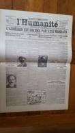 L'HUMANITE FAC SIMILE DE LA UNE DU 30/12/1920  N°6126  L'ADHESION EST DECIDEE PAR 3252 MANDATS - Giornali