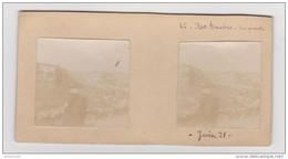 PHOTO STÉRÉOSCOPIQUE AMATEUR ROC AMADOUR VUE GÉNÉRALE JUIN 1921 - Photos Stéréoscopiques