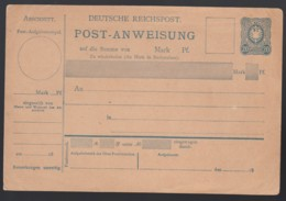 Deutsches Reich Ganzsache Postanweisung A1 Unbenutzt Lot 753D - Ganzsachen