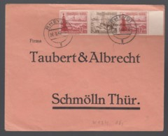 Deutsches Reich Brief 1938 Rheydt Nach Schmölln Thüringen Zusammendruch ZD W147 Lot 754D - Zusammendrucke