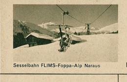 Carte Illustré Neuve N° 182 - 0332 D  -  Sesselbahn FLIMS-Foppa-Alp Naraus  (Zumstein 2009) - Entiers Postaux