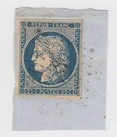 CERES 25c N° 4 SUR FRAGMENT. 4 BELLES MARGES - 1849-1850 Ceres