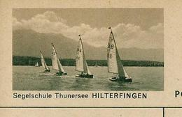 Carte Illustré Neuve N° 182 - 0329 D  -  Segelschule Thunersee HILTERFINGEN  (Zumstein 2009) - Entiers Postaux