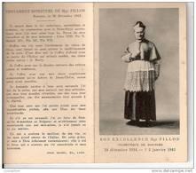 TESTAMENT DE MONSEIGNEUR FILLON ARCHEVEQUE DE BOURGE - 1942 - - Religion & Esotericism