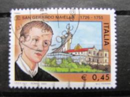 *ITALIA* USATI 2005 - 250° SAN GERARDO MAIELLA - SASSONE 2826 - LUSSO/FIOR DI STAMPA - 6. 1946-.. Repubblica