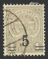 Luxembourg, 5 C. On 1 C. 1923, Sc # 114, Mi # 109, Used. - 1907-24 Coat Of Arms