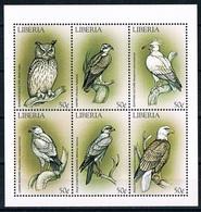 Bloc Sheet Oiseaux Hiboux Birds Owls Neuf MNH ** Liberia 1999 - Hiboux & Chouettes